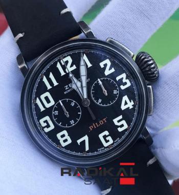Zenith Pilot Eksitme Kasa Chronograph Pilli Mekanizma