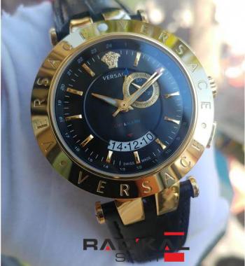 Replika- Versace AAA Kalite 1.1 Görünüm Gold Kasa Erkek Saati