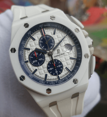 Swiss Eta-Audemars Piguet Royal Oak Offshore V2 White Ceramic Kasa