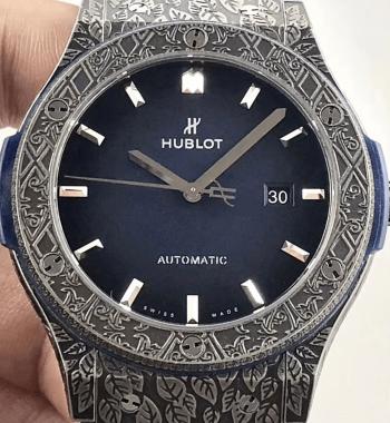 Swiss Eta-Hublot Fusion Arturo Fuente Limited Edition Titanium Blue Dial