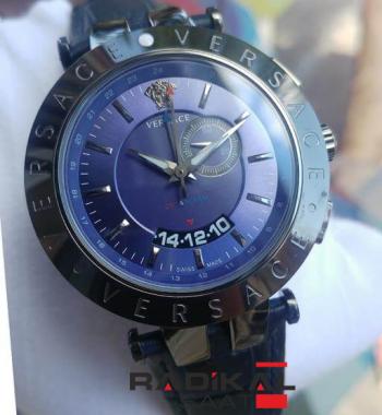 Replika- Versace Gmt-Alarm Erkek Kol Saati
