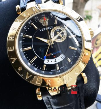 Versace Gold Kasa Siyah Kadran Replika Erkek Saati