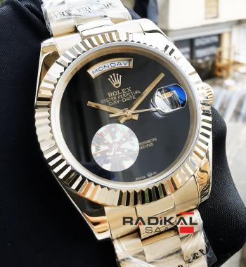 Rolex Day-Date Vartolu Sarı Kasa Replika Erkek Saati