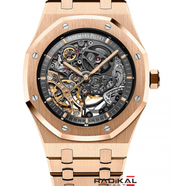 Swiss Eta-Audemars Piguet Royal Oak Double Balance Wheel Openworked Skeleton
