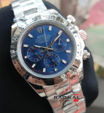 Rolex Daytona Mavi Kadran Otomatik Mekanizma Erkek Kol Saati