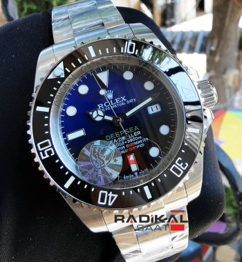 Rolex Sea-Dweller Deepsea Deep Blue Replika Saat