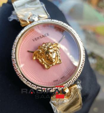 Replika-VERSACE Gold Kasa Pembe Kadran Bayan Kol Saati