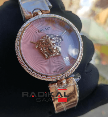 Replika-VERSACE Rose Kasa Pembe Kadran Versace Bayan Saat Modelleri