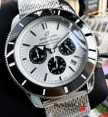 Breitling Superocean Chronograph Beyaz Kadran Replika Saat