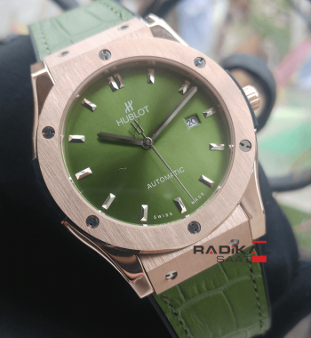 Replika-Hublot Classic Fusion Titanium Green Watch