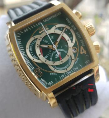 Replika İnvicta Saat-İnvicta S1 Yeşil Kadran Chronograph Mekanizma Erkek Kol Saati
