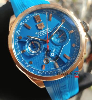 Replika Tag Saat-Tag Heuer SLS Kırmızı Saniye Mavi Kadran Kol Saati