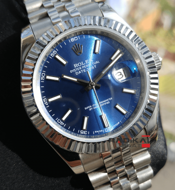 Replika Rolex- Rolex Datejust Blue Dial Jubile Kordon Erkek
