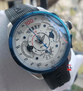 Replika Tag Saat-Tag Heuer SLS Mavi Saniye Quartz Mekanizma Erkek Kol Saati