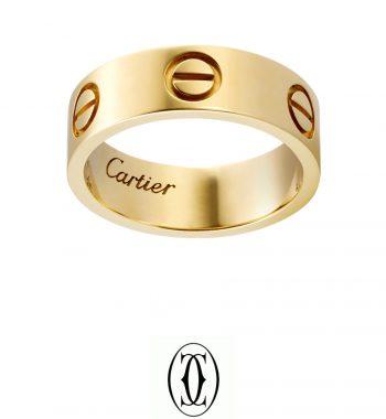 Cartier Love Gold Taşsız Bayan Yüzük Modelleri