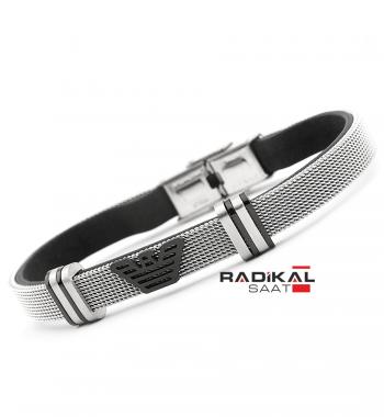 Replika-Emporio Armani Hasır Çelik Erkek Bileklik Modelleri