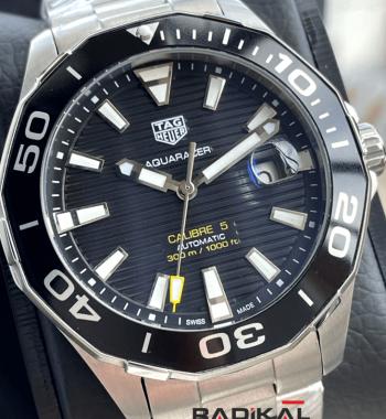 TAG Heuer Aquaracer Calibre 5 Siyah Kadran Replika Saat