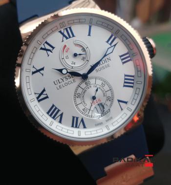 Replika-Ulysse Nardin Lelocle Suısse Chronometer Marine Mavi
