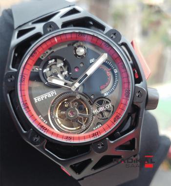 Replika Hublot-Ferrari Hublot Tourbillon Mekanizma