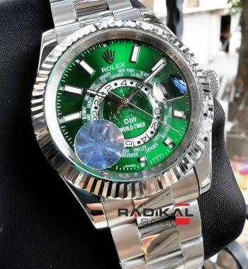 Rolex Sky-Dweller Yeşil Kadran Replika Saat