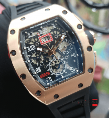 Replika-Richard Mille Chronograph RM011-FM Rose Gold Kasa