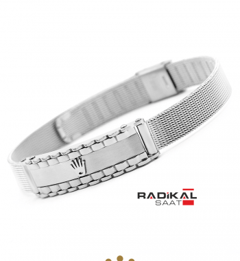 Replika-Rolex Silver Erkek Bilekliği Yeni Model