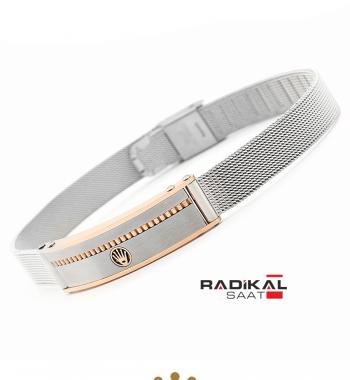 Replika-Rolex Silver/Rose Erkek Bilekliği Yeni Model