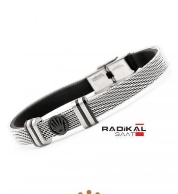 Replika-Rolex Silver Hasır Çelik Erkek Bileklik Modelleri