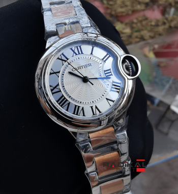 Cartier Ballon Bleu Two Tone Kordon Quartz Mekanizma Bayan Kol Saati