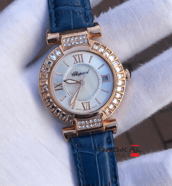 Replika Chopard-Chopard Imperiale Diamond Rose Kasa Bayan Saati 36 mm