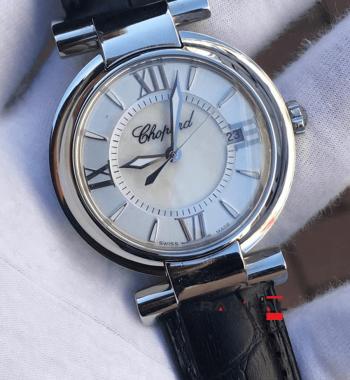 Replika Chopard-Chopard Imperiale Beyaz Dial Bayan Saati 36 mm