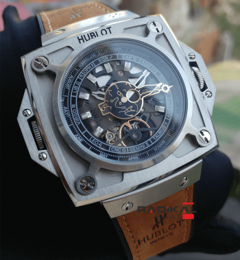 Replika Hublot-Hublot Antikythera Silver Kasa SunMoon MP-08