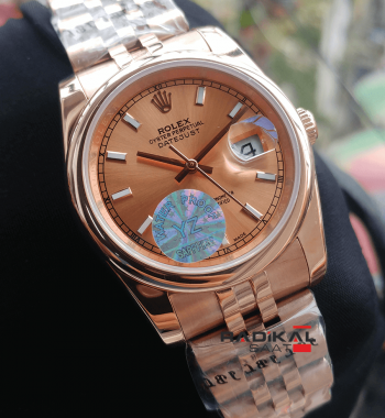 Rolex Datejust 36 MM Jubile Kordon Rose Kasa Replika Bayan Kol Saati