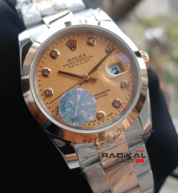 Rolex Datejust 36 MM Two-Tone Kordon Replika Bayan Kol Saati