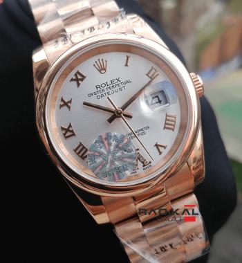 Rolex DateJust Rose 36 MM Roma Rakamlı Replika Bayan Kol Saati
