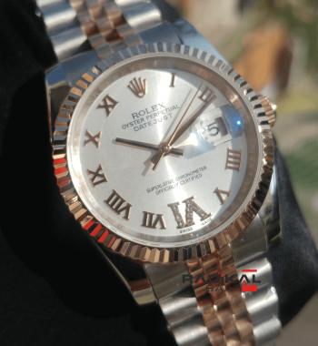 Rolex Datejust 36 MM Roma Rakamlı Jubile Kordon Replika Bayan Kol Saati