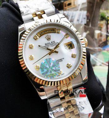 Rolex Day-Date 36 MM Beyaz Sedef Kadran Replika Bayan Kol Saati