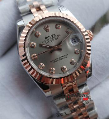 Replika Rolex-Bayan Rolex DateJust Gri Kadran Jubile Kordon 31mm