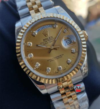 Rolex Day-Date 36 MM Gün Tarih Fonksiyonlu Replika Bayan Kol Saati