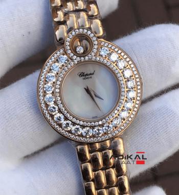 Replika Chopard-Chopard Imperiale Swarovski Taşlı Rose Kasa Bayan Saati
