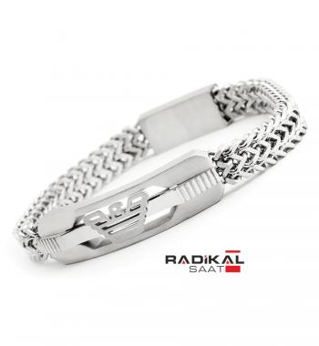 Replika-Emporio Armani Silver Çelik Erkek Bileklik