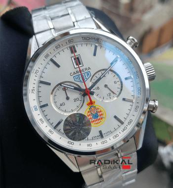 Tag Heuer Carrera Chronograf Yeni Model Beyaz Kadran Erkek Kol Saati
