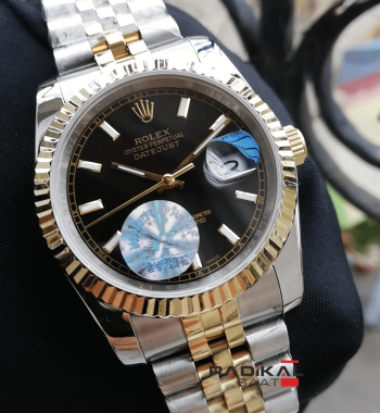 Rolex Datejust 36 MM Siyah Kadran Jubile Kordon Replika Bayan Kol Saati