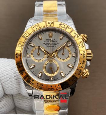 Rolex Cosmograph Daytona 116503 Two Tone Noob Edition 904L Gri Kadran SA4130 ETA