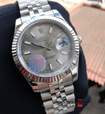Rolex Replika Datejust Gri Kadran Jubile Kordon