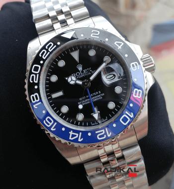 Rolex Gmt Master II Jubile Kordon Mavi Siyah Bezel