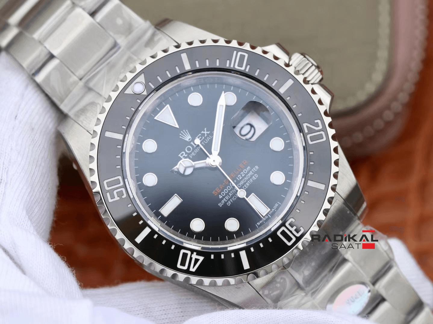 Rolex Sea Dweller 126600 43mm Siyah Seramik ARF V9 1:1 En İyi Baskı 904L  Çelik