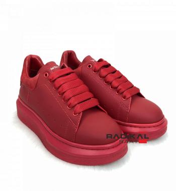 Alexander Mcqueen Knitted Bayan Ayakkabısı Kırmızı