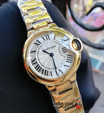 Cartier Ballon Bleu Gold Kasa 33 MM Replika Bayan Kol Saati
