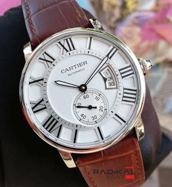 Cartier Calibre De Watch Beyaz Kadran Çelik Kasa 43mm Replika Erkek Kol Saati